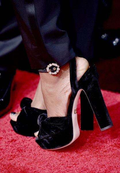 Ryan Michelle Bathe Photos - Ryan Michelle Bathe (shoe detail) attends The 75th Annual Golden Globe Awards at The Beverly Hilton Hotel on January 7, 2018 in Beverly Hills, California. - 75th Annual Golden Globe Awards - Arrivals