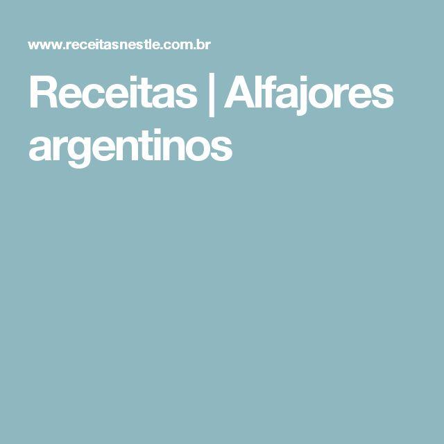 Receitas | Alfajores argentinos