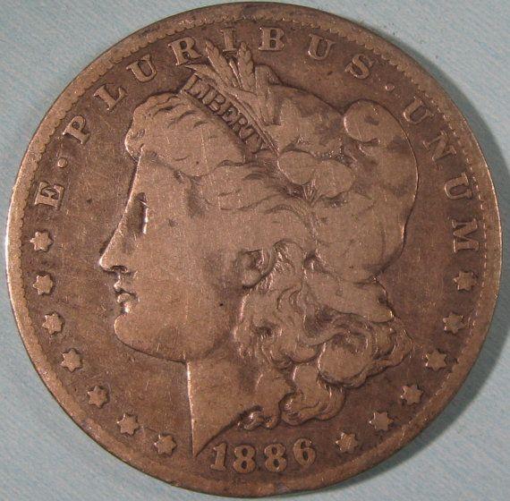 Morgan Silver Dollar Coin 1886 O Silver Dollar by ThatsOldMoney