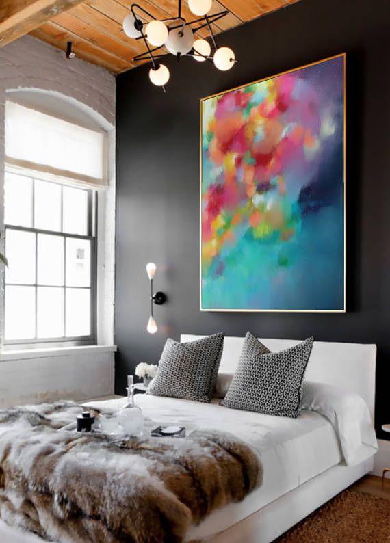 PLUVIUS Nº 1 (variante II) por Corinne Melanie. Hermoso, cautivador y edificante arte Giclée en algodón fino arte de la lona. Tamaño: Su opción de 75x100CM (30x40IN) OR 80x120CM (32x48IN) Medio: Rica + Vibrant, calidad, tintas de Giclée en listo para colgar lienzo de galería, con la opción de agregar un magnífico marco flotante externo. ---------------------------------------------------- SOBRE EL ARTISTA Corinne es una artista local de Adelaida con una pasión por el color y hacer del m...