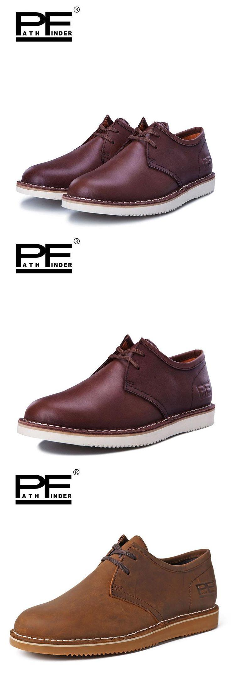 Pathfinder Men Work&Safety Shoes Nubuck Leather Martin Ankle Botas Brand Designer Flats For Men Ankle Casual Shoes