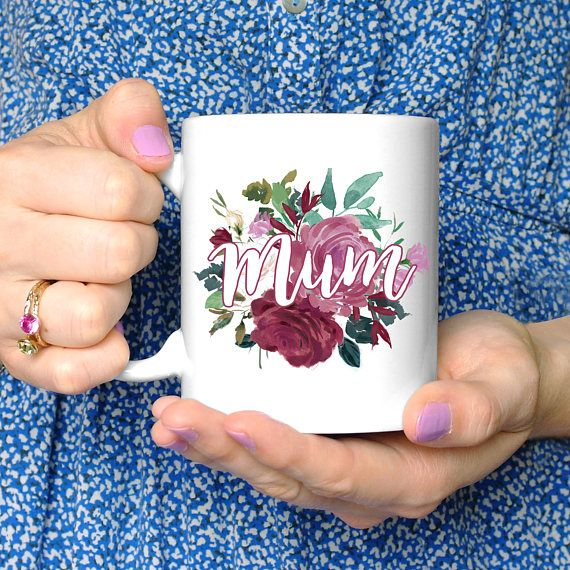 Floral Mum Mug, Personalised Mother's Day Mug, Tea Lover Mug Gift, Coffee Gift, Stepmother Birthday Present, New Mum Gift, Mum Present - Etsy - Chi Chi Moi