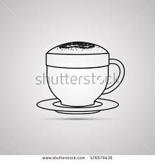 Image result for flat white coffee sketch