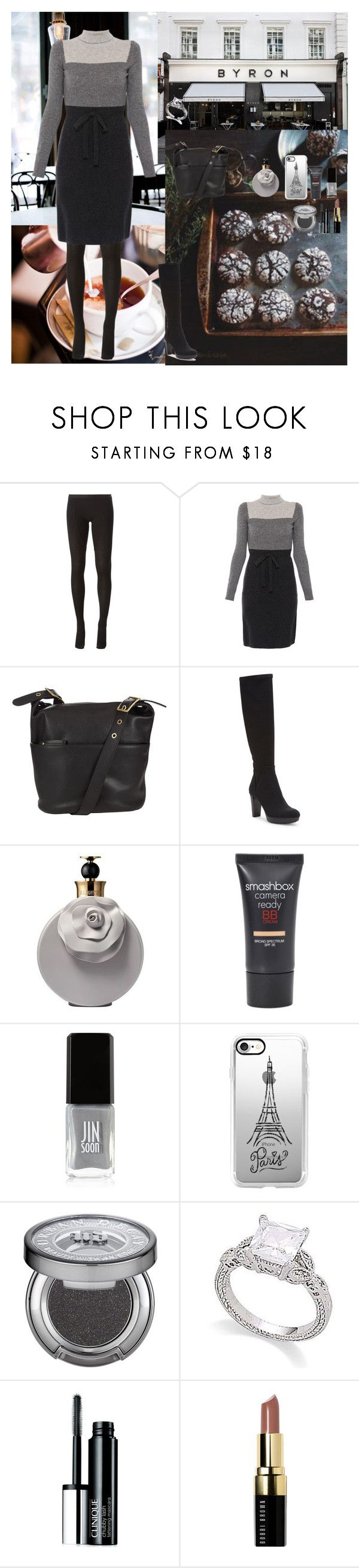 """Go to Cafe 🍪"" by oksana-kolesnyk ❤ liked on Polyvore featuring BYRON, Rick Owens, Paule Ka, John Lewis, Donald J Pliner, Valentino, Smashbox, JINsoon, Casetify and Urban Decay"