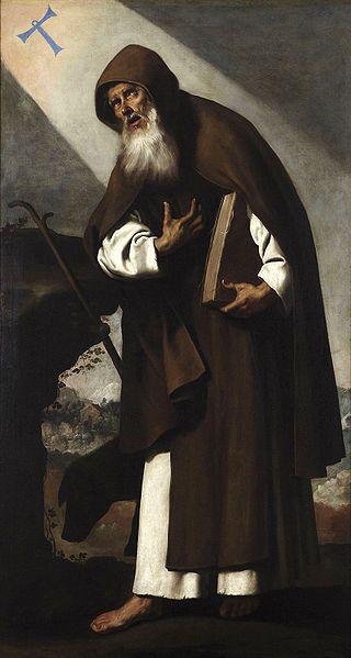 """""""Santo  Antão do Deserto"""". (by Francisco de Zurbarán)."""
