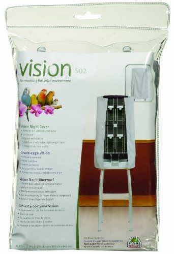 This Vision Bird Cage Night Cover was specifically designed to fit the Vision S02 Cage. It was made from a washable light-weight fabric and the Vision Night Covers attach to the cage with Velcro (no...