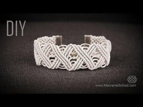 Eternal Zig Zag Lines X pattern Bracelet in Vintage Style | DIY - YouTube