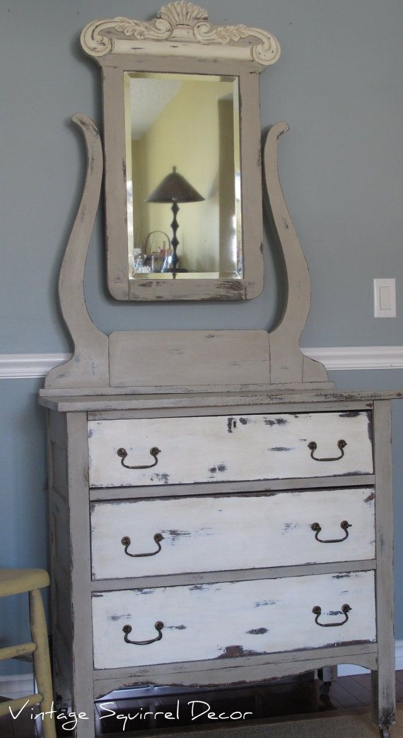 Antique Dresser With Bevel Mirror By Winkyink On Etsy 425 00
