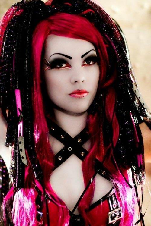 Red Pink ❤️ #CyberGothGirl #CyberGoth