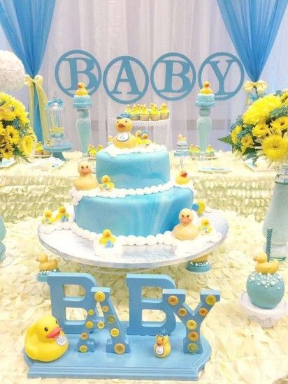 Rubber Ducky Baby Shower Cake Adorable