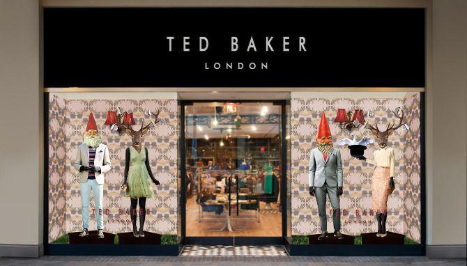ted baker window displays