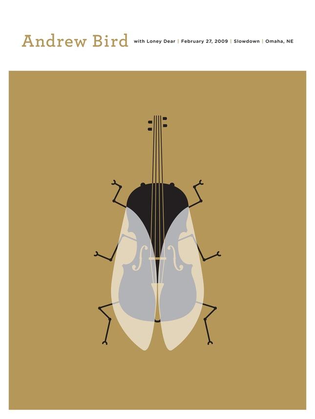 Andrew Bird poster, Jason Munn: Poster Design, Concerts Poster, Jason Munn, Poster Frame-Black, Andrew Birds, Gig Poster, Music Poster, Cool Ideas, Small Stakes