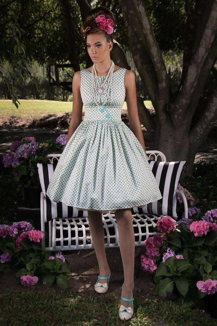Pretty Birdie Spot Dress