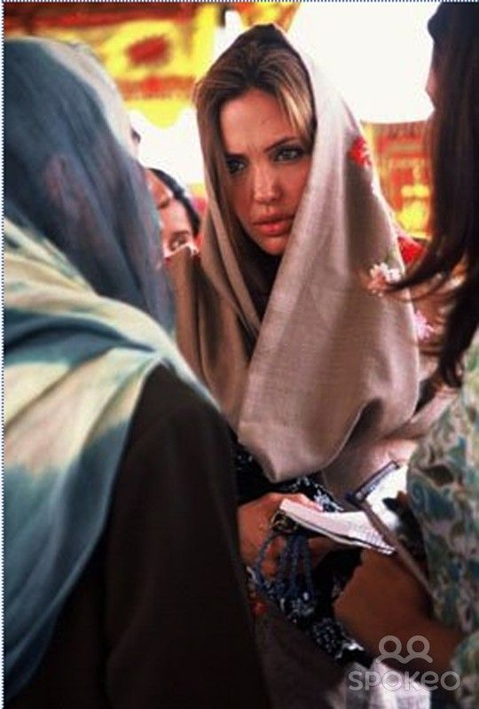 Angelina Jolie Working in her capacity as a UNHCR Goodwill Ambassador, Angelina Jolie visits those affected by the 2005 Kashmir earthquake.