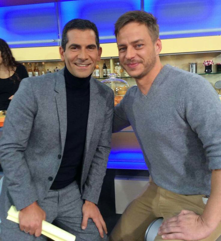 Tom Wlaschiha with Mitri Sirin from ZDF Morgen Magazin on November 2015 #tomwlaschiha #gameofthrones #jaqenhghar