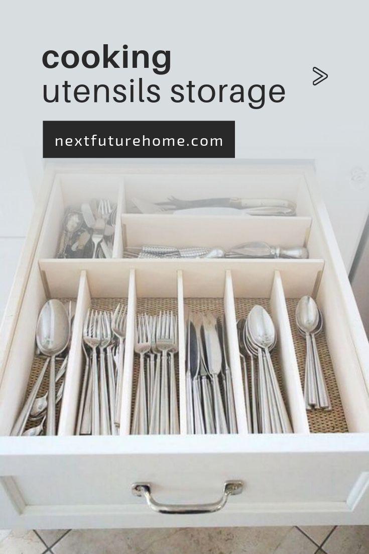 10 Creative Ways To Organize Cooking Utensils With Images Cooking Utensil Storage Kitchen Utensil Organization Cooking Utensils