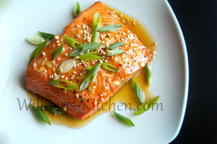 Salmon with Honey Sesame