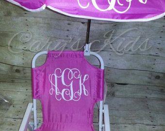 Toddler Childrens Beach Chair And Umbrella Monogrammed