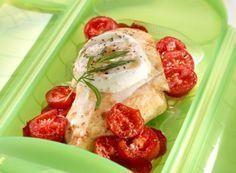 Pollo con tomates y mozzarella