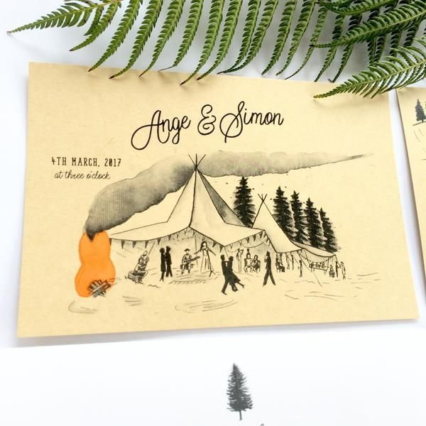 This is set to be one fun, laid-back wedding! I've recently completed and posted off this invitation suite for Ange and Simon, a recently engaged couple, based in Palmerston North. They wanted a rustic, boho-inspired invitation, reflecti...