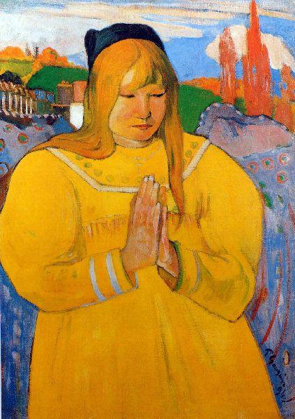 Paul Gauguin - Post Impressionism - Jeune chrétienne - 1894