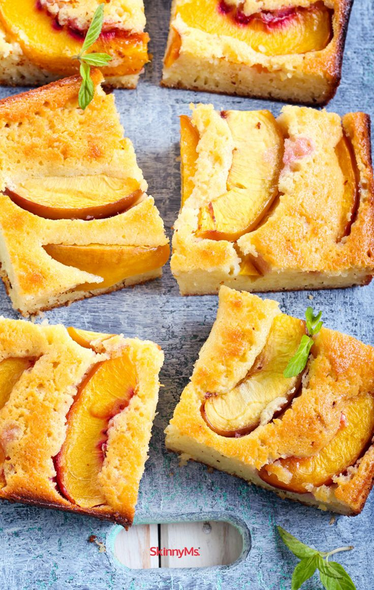 Nectarines deserve the spotlight! This mouth watering Corn Bread Cake ...