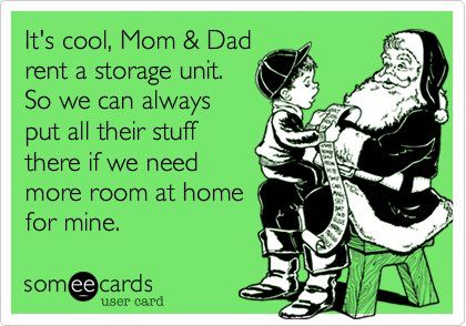 self storage is great for hiding presents where kids cant find them at holidays