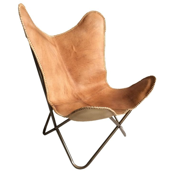 Comfortable, Portable And Authentic, Our Safari Inspired Camel Leather  Butterfly Chair Makes A Versatile Choice.