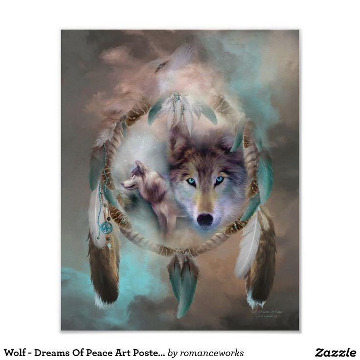 Wolf - Träume des Friedenskunst-Plakats/des Poster
