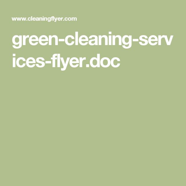 green-cleaning-services-flyer.doc