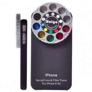 Color Cam Selection Lens (Sort) iPhone 4S Cover