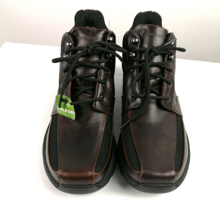Rockport XCS Mens Hiking Boots Waterproof Sz 8 US Brown Leather Tags #Rockport #HikingTrail