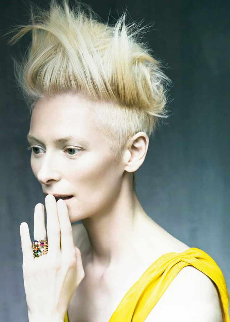 Tilda Swinton has the coolest hair in the ever.