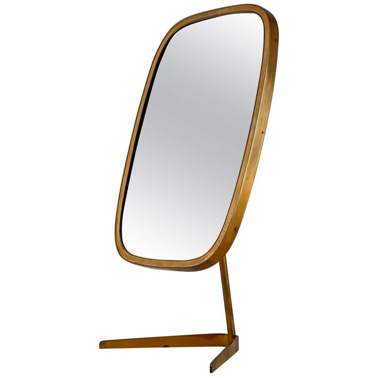 Brass Console or Vanity Mirror on Crow's Foot, Germany, 1950s | 1stdibs.com