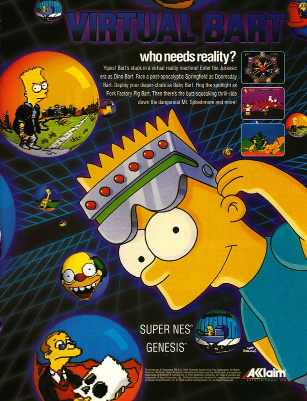 #CelebrateGaming 1994 ad memories - and The Simpsons games keep rolling in, here's Virtual Bart!
