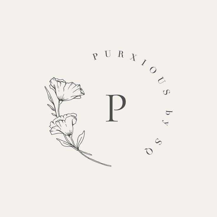 Pretty little floral submark #floraldesign #floral…