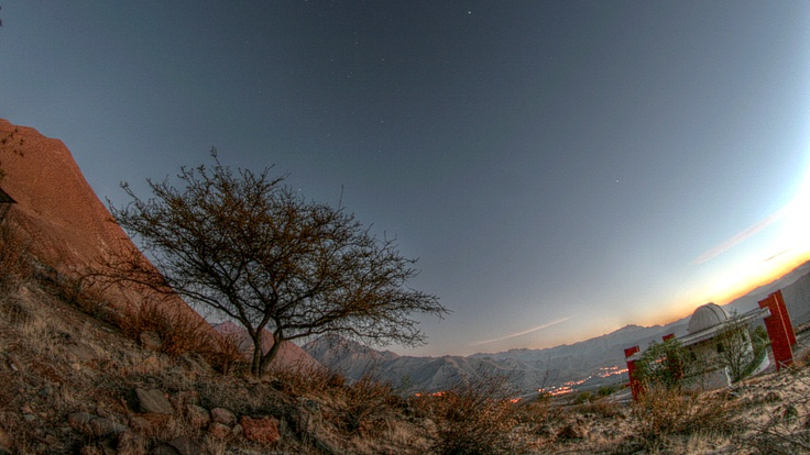 Panoramic at dusk in HDR