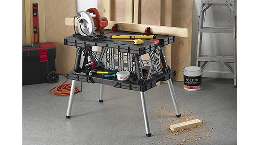 Folding Work Table | Tool Storage by Keter