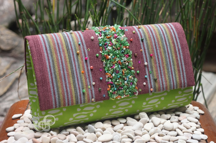 compilation of javanese batik and NTB tenun #clutchbag, adorned with stones, synthetic pearl, and also japan beads. so stunning!    #clutchbag #clutch #batikbag #indonesia #ethnicbag #traditional #batik -made for mrs. Melly-