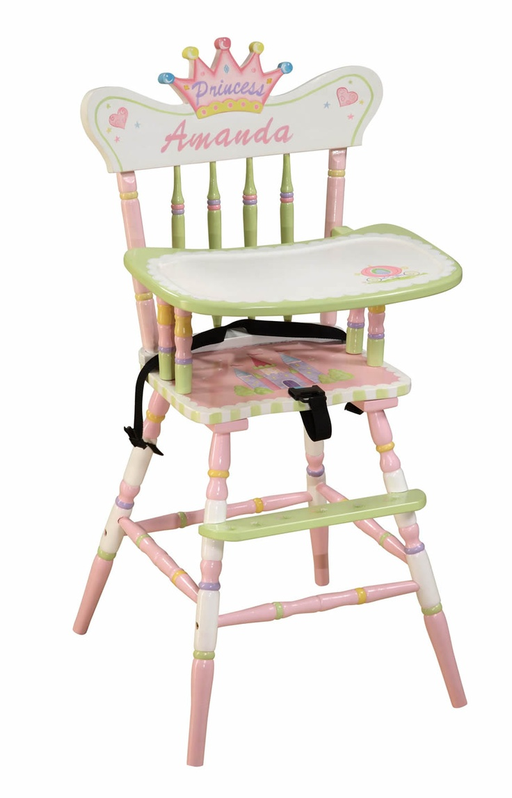 Painted wood high chair - Image Detail For Hand Painted Furniture For Children Wood Furniture Painted High Chairshand