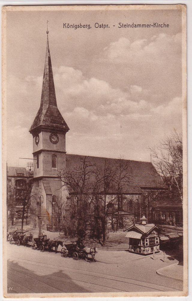 67514 Ak Königsberg Ostpreussen Steindammer Kirche 1941