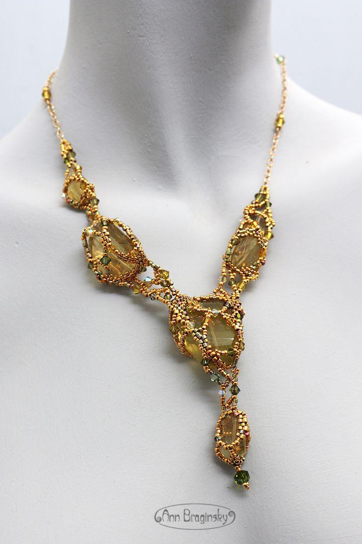 Золотая сеть. Анна Брагинская — украшения из бисера