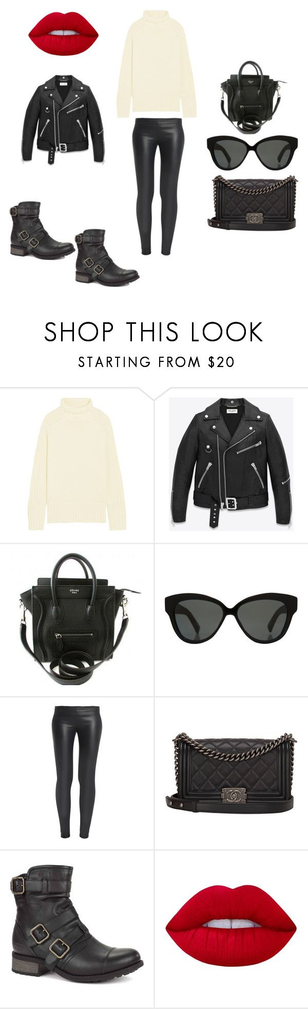 """""""Untitled #1591"""" by kaittd on Polyvore featuring Joseph, Yves Saint Laurent, Linda Farrow, The Row, Chanel, UGG Australia and Lime Crime"""