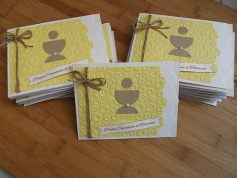 Inviti per Prima Comunione in giallo