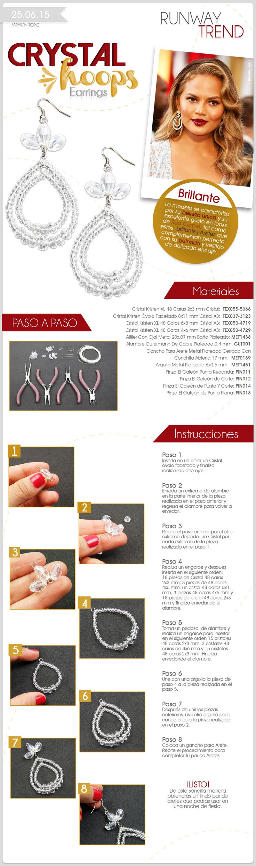 Fashion Topic Runway Trend Crystal Hoop Earrings  Descubre más en: www.elgaleon.com.mx  Suscríbete a nuestro canal de Youtube:  https://www.youtube.com/user/bisuteriafina