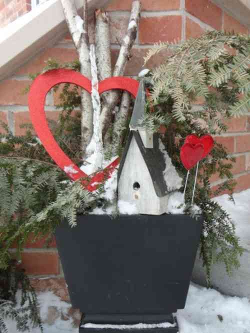 dco de nol rustique 27 ides et exemples dcouvrir valentine decorationsvalentine - Valentine Outdoor Decorations