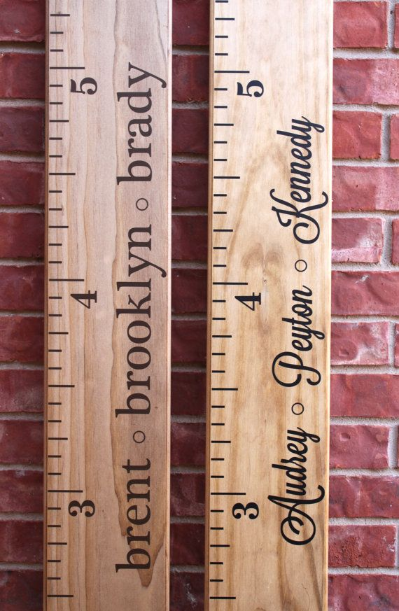 Make your own personalized growth chart ruler -- DIY Vinyl Decal by LittleAcornsByRo on Etsy, $9.99