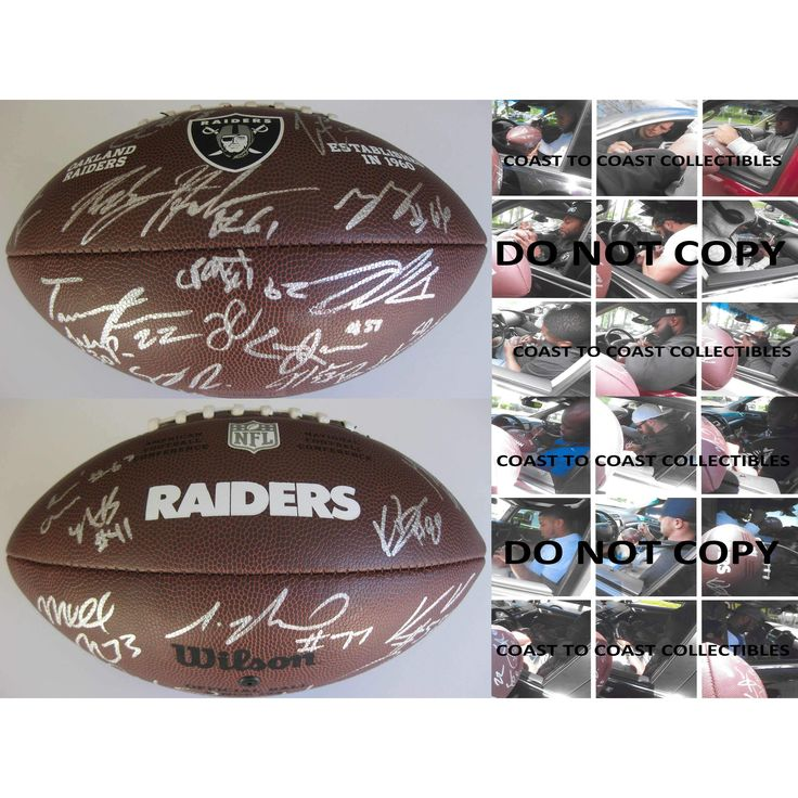 2017 Oakland Raiders, Team, Signed, Autographed, NFL Logo, Football, a COA and the Proof Photos of the Raiders Players Signing Will Be Included, Derek Carr