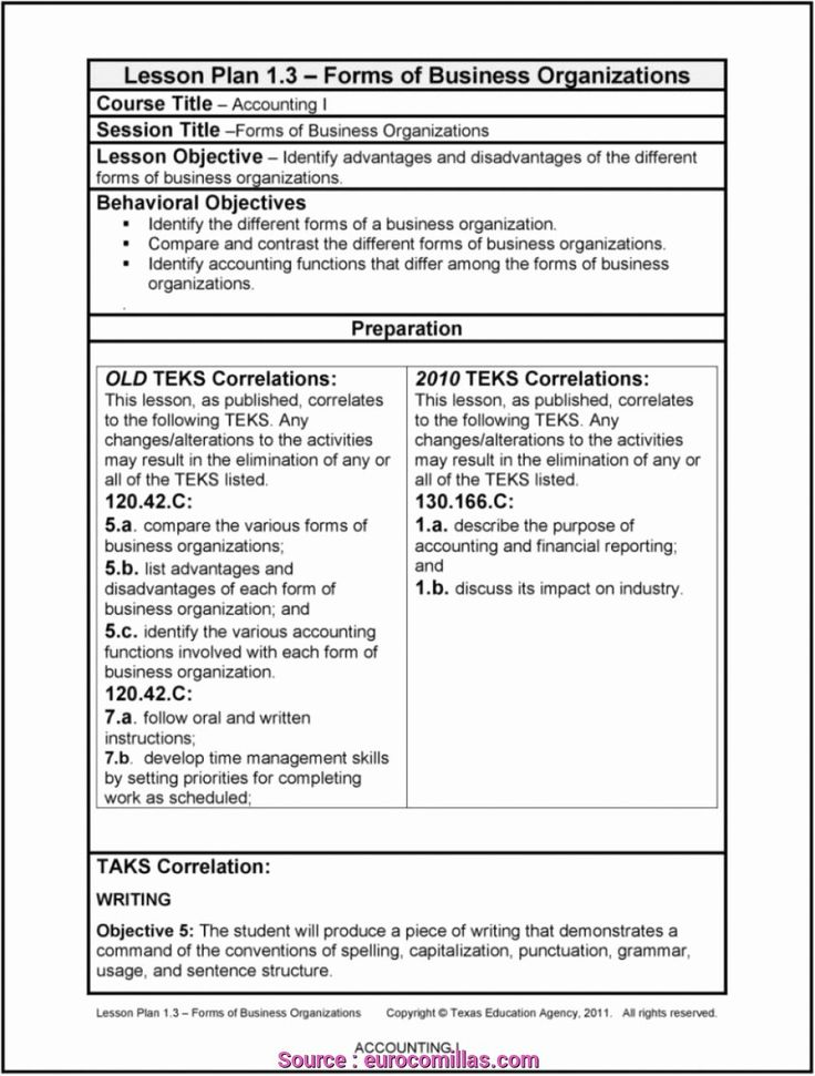 Texas Lesson Plans Template Best Of 7 Perfect How to Write