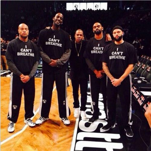 Athletes support Eric Garner with 'I Can't Breathe' T-shirts #ICantBreathe